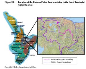 Rotorua Police Boundaries